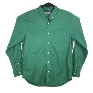 Chubbies The Nutter Solid Green Button Shirt XL
